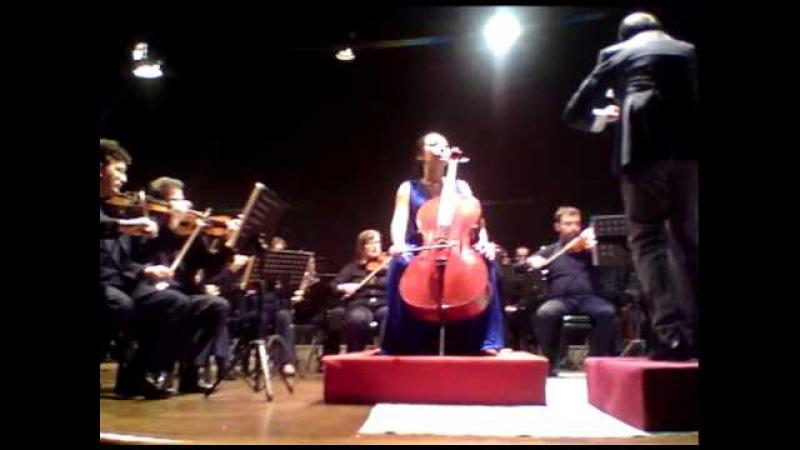 Tina Guo : Saint-Saens Cello Concerto with Bari Symphony Mvt 1