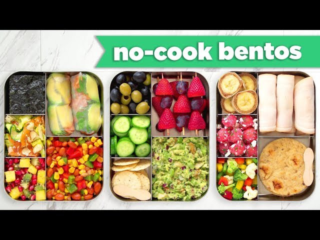 Back To School Healthy Bento Box Lunches– No BakeNo Cook Recipes! - Mind Over Munch