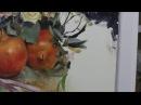 Pomegranates flowers oil painting part 6