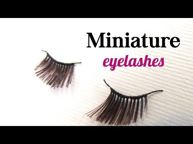 DIY miniature eyelashes