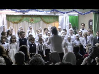 """Рождественский утренник воскресной школы """"Радуга"""" 08-01-2017"""