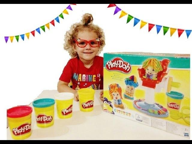 Игрушки пластилин Play-doh /Плэй До Парикмахерская. Варя - маленький парикмахер.