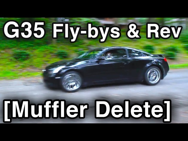 G35 Exhaust Sounds [Muffler Delete Test Drive w/ Fly Bys Rev]