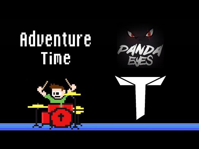Panda Eyes Teminite - Adventure Time (Blind Drum Cover) -- The8BitDrummer