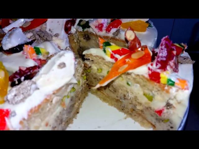 Как сделать торт-парфе (РЕЦЕПТ) Восточный торт ч2. Халва, фисташки, рахат-лукум / Cake with nuts