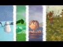 ВРЕМЕНА ГОДА - мультфильм для детей зима, весна, лето, осень