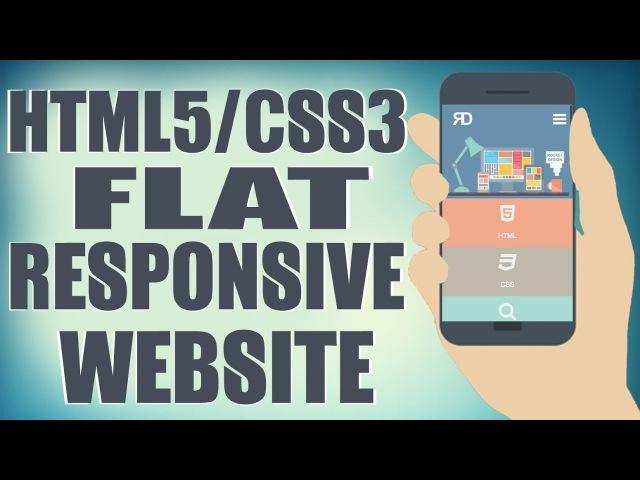 HTML5/CSS3 Flat Responsive Website - Start To Finish Web Design Tutorial