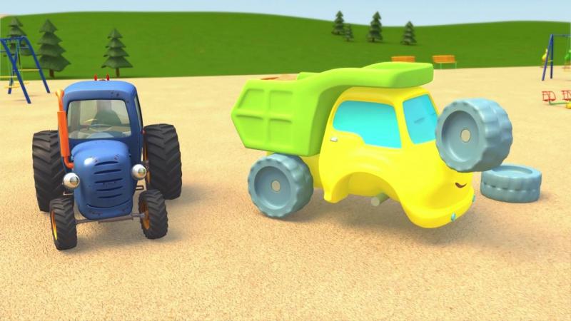 Синий Трактор Гоша _ Большой грузовик на игровой площадке