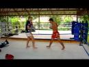 Урок 54 Удар коленом в прыжке Тайский бокс Техника обучение от Тайцев ufcall ©