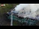 Локализация пожара в деревянном доме. Петербург
