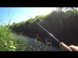 Вот так рыбалка в ручье!В этом ручье полно рыбы!Рыбалка на спиннинг