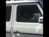 Video of Justin Bieber spotted out in California the other day. (July 31)