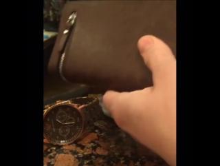 Кожаное портмоне baellerry + мужские часы в подарок!