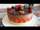 Торт без выпечки ШОКОЛАДНАЯ КЛУБНИЧКА. Шоколадный торт без выпечки