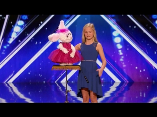 Выступление 12-летней чревовещательницы, покорившей зрителей американского шоу талантов