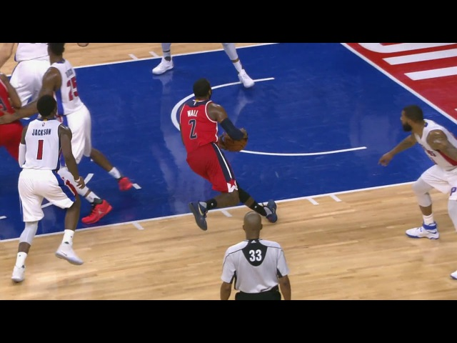 John Wall Elavates To the Rim | Wizards vs Pistons | January 21, 2017 | 2016-17 NBA Season