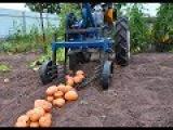 Уборка картофеля 2017.  Часть 1. Модернизация картофелекопалки с мотоблоком Нева