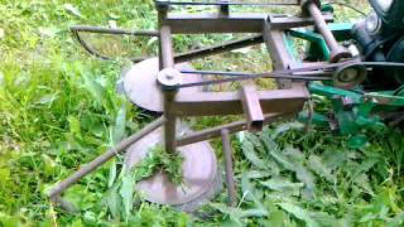 самодельная роторная косилка к мотоблоку в паре с адаптором