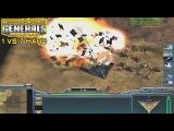 Command &amp Conquer Generals Zero Hour - 1 vs 7 Hard Armies (Random)