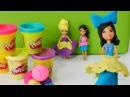Плей До платья для кукол. Видео для девочек на английском языке.