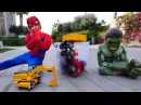 Супергерои Человек Паук и Халк. Видео для детей. Халк в беде.