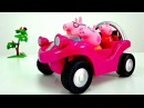 Peppa pig. New sport car for Peppa. Unboxing toys and videos for kids on PlayTime.