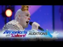 Puddles Pity Party Sad Clown Stuns Crowd with Sia's Chandelier America's Got Talent 2017