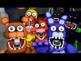 FNAF World Trailer 2 Animatronics Reaction | FNAF SFM