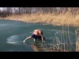 How To Dog Care The brave boy saves the poor dog trapped under a frozen river! Great