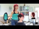 Extreme Pixie Short Haircut Makeover by Anja Herrig, red hair dye