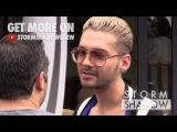 EXCLUSIVE Bill Kaulitz from Tokio Hotel at Avenue restaurant in Paris