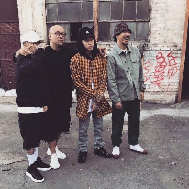 #SMTM6Tiger JK, Dok2, Dean и Jay Park на отборочных в LA.