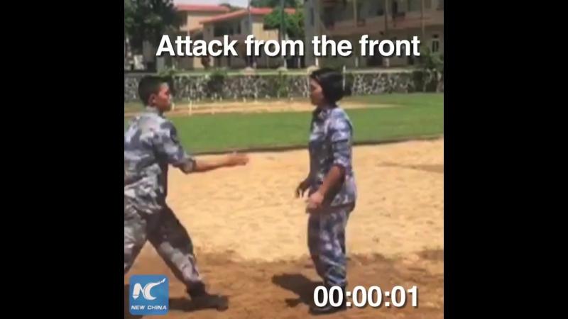 Китаянка-морпех показывает, как справиться с нападающим за 6 секунд