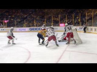 Нэшвилл - Коламбус 4-3. 27.01.2017. Обзор матча НХЛ