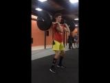 День рекордов в #CrossNK, взятие толчок, Леха - 30 кг, силовая тренировка