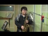 Кавер на песню Bon Jovi - LivinOn A Prayer в исполнении подростка с саксофоном