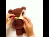 Как сделать мишку из полотенца. Игрушка и просто красивый декор_How to make a Ted
