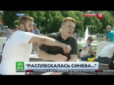 Расплескалась синева - пьяный десантник бьет журналиста НТВ в прямом эфие