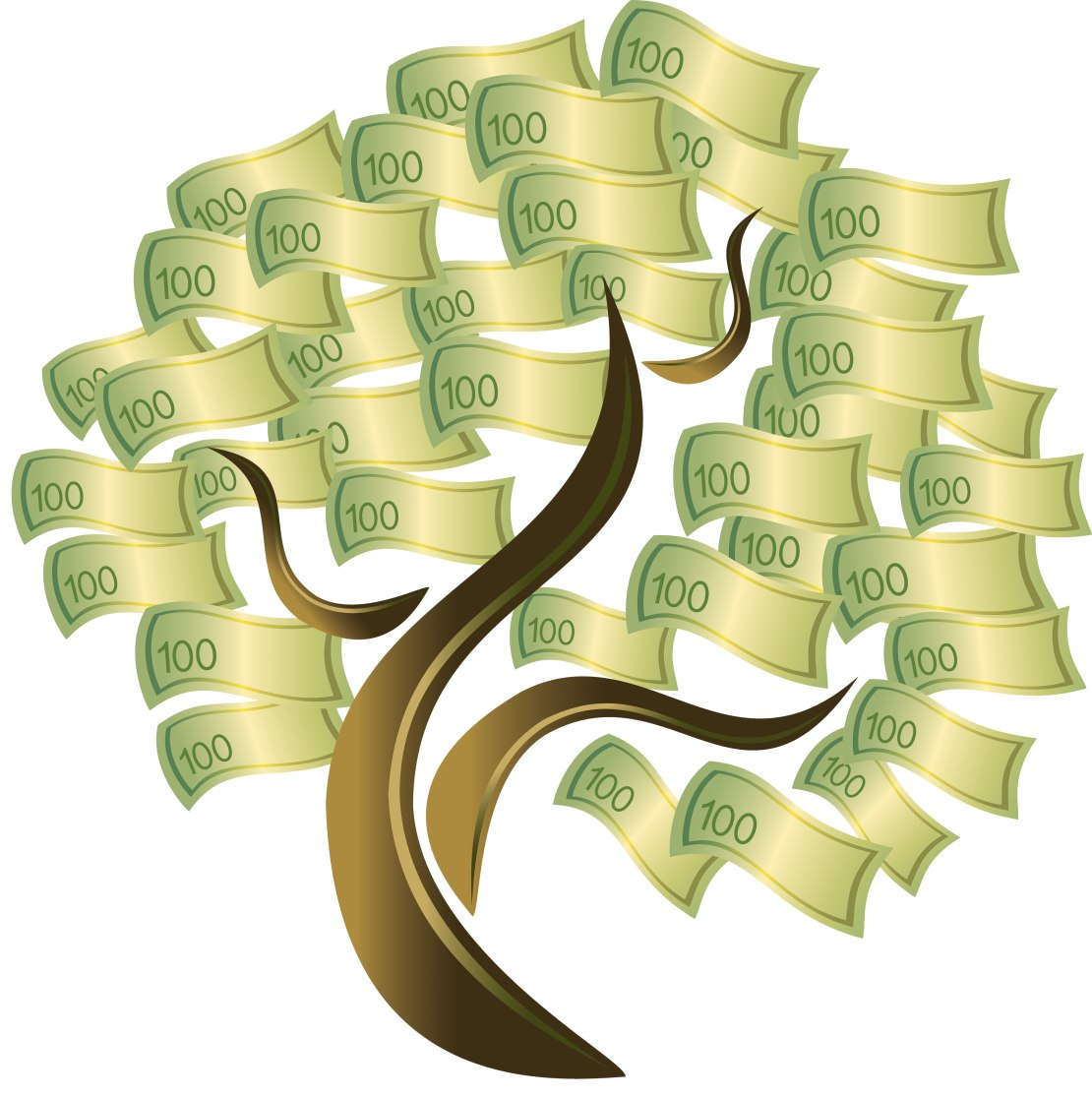 Денежное дерево. Любую понравившуюся картинку можно разбить в определенных программах для вышивки.