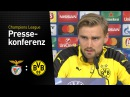 Pressekonferenz mit Marcel Schmelzer und Thomas Tuchel | SL Benfica - BVB