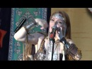 Russian shaman lady Olena Podluzhnaya performs Blessing of the Nature