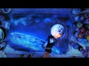 Earth and Moon - Spray paint art by Skech