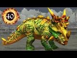Пахиринозавр 40 Прокачка Динозавра Pachyrhinosaurus Jurassic World The Game прохождение на русском