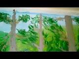 Детали рисунка леса. Мне так нравится, потому что и краски частично закончились ...