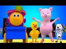 Боб поезд | звуки животных песня | дети песня | Baby Song | Bob The Train | Animal Sounds Song