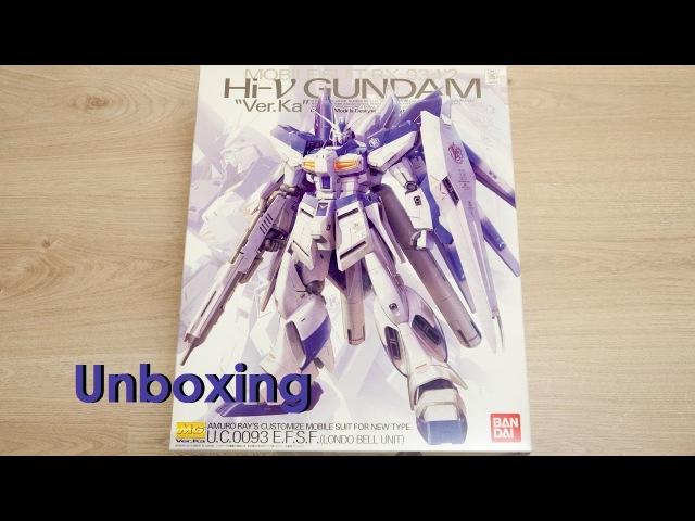 Unboxing - MG 1/100 RX-92-v2 Hi-V Ver.Ka Gundam [by Bandai]