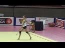 Karina KUZNETSOVA (RUS) clubs training - 2017 Trofeu de Barcelona