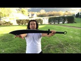 Cold Steel Chinese War Sword Machete How to use