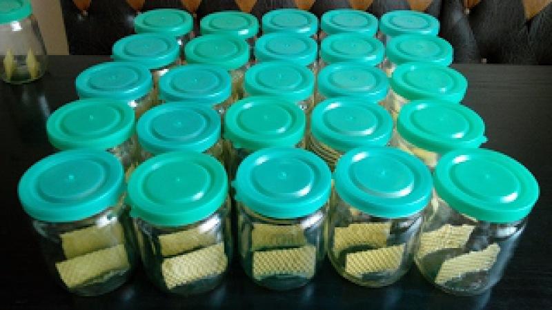 Сотовый мёд в банках Готовлю банки под сотовый мёд Preparing for cell banks honey