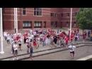 Rafc fans vertrekken richting stadion nottingham